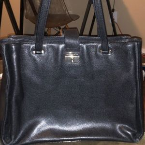 Black leather Kate spade